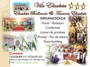 Sala evenimente, Hotel, Centru Conferinte, Piscina, Restaurant : Vila Elisabeta Alba Iulia