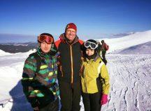 Presedintele Ioahnnis la schi in Muntii Sureanu