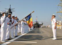 Reprezentanti ai Fortelor Navale Romane in vizita la Aiud
