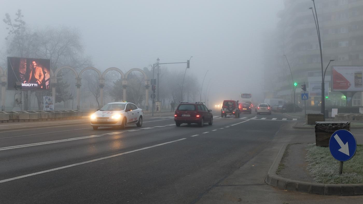 masini in ceata