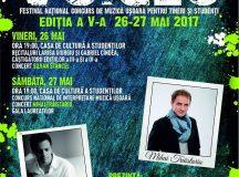 Mihai Traistariu, recital la Festivalul National de Muzica Usoara Voices de la Alba Iulia