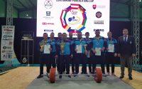 Trei sportivi ai CS Unirea Alba Iulia in echipa Romaniei care a castigat Cupa Dunarii pe natiuni la powerlifting