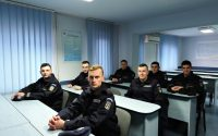 Elevi jandarmi în practică la Jandarmeria Alba.