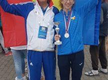 Mihaela Acatrinei, sportivă legitimată la CS Unirea Alba Iulia, singura medaliată din delegația României la Campionatul Balcanic de Marș