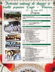 Jocuri sportive tradiţionale la Festivalul  Naţional de Dansuri şi Tradiţii Populare de la Vinerea