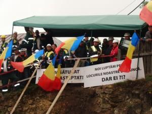 """Sindicatul """"Viitorul Mineritului"""":  Condamnăm acțiunile la instigare făcute de grupuri de străini în Roșia Montană"""