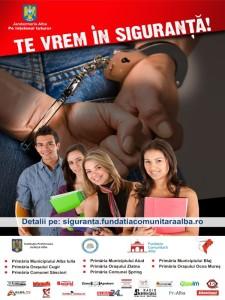 Afis Campanie TE VREM IN SIGURANTA! - 2013