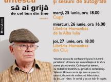 Actorul Valentin Uritescu îşi lansează cea mai recentă carte la Cugir şi Alba Iulia