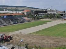 Stadionul CSO Cugir, ultimele pregătiri pentru meciurile din liga a III-a