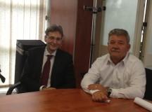 Discuții pe fonduri europene între comisarul european Leonard Orban și primarul Mircea Hava
