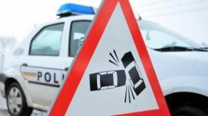 Accident rutier la ieșirea din Alba Iulia către Sebeș. Trei autoturisme au fost implicate în coliziune