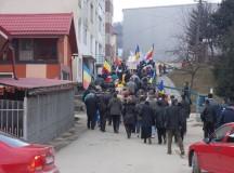 În Câmpeni a avut loc o nouă acțiune de protest împotriva exploatării miniere de la Roșia Montană