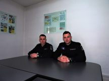Elevi jandarmi de la scoala din Falticeni in practica la Jandarmeria Alba