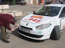 Taxi accidentat la Alba Iulia