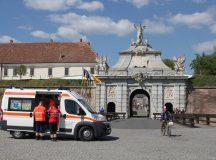 Alba Iulia: Biciclist accidentat la Poarta a III-a a Cetatii