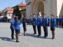 Avansari in grad la Alba Iulia de Ziua Jandarmeriei Romane