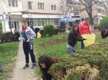 Elevii din Aiud din nou in strada pentru a curata spatiile verzi
