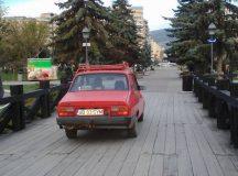 Alba Iulia: La plimbare cu masina prin parc
