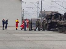 Militar carbonizat in gara Alba