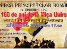 Ziua Unirii Principatelor Române va fi marcată  și la Cugir!
