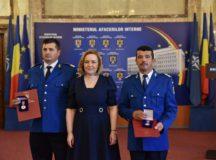 Placheta de onoare a M.A.I. pentru doi jandarmi albaiulieni