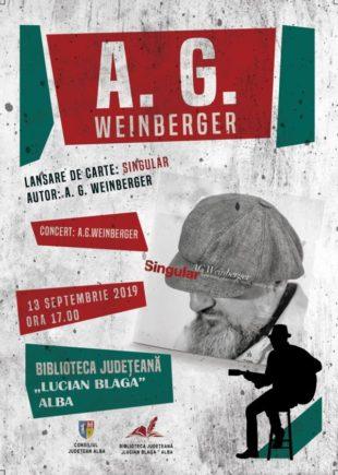 """A.G. Weinberger și cartea sa Singular,  la Biblioteca Județeană ,,Lucian Blaga"""" Alba"""