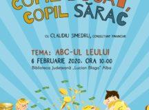 """Biblioteca Județeană """"Lucian Blaga"""" Alba anunță lansarea unui nou proiect – Copil bogat, copil sărac"""