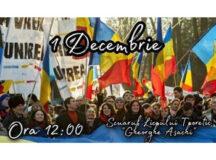 Moldovenii de peste Prut: TRICOLOR de 102 m la serbarea a 102 ani de la unirea cu Țara Mamă!