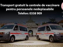 Transport gratuit cu ambulanța la centrele de vaccinare, asigurat de Primăria municipiului Alba Iulia prin Crucea Roșie!