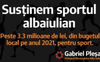 Sprijin pentru sportul albaiulian!