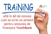 Sâmbătă, 15 mai – training de scriere proiecte pentru finanțare YouthBank