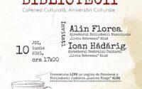 """A treia ediție a Cafenelei culturale aniversare, la Biblioteca Județeană """"Lucian Blaga"""" Alba"""