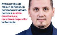 """Beniamin Todosiu, deputat USR PLUS: """"Avem nevoie de măsuri serioase, în perioada următoare, pentru a susține colectarea și reciclarea deșeurilor în România."""""""